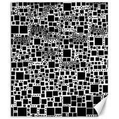 Block On Block, B&w Canvas 20  X 24   by MoreColorsinLife