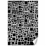 Block On Block, B&w Canvas 20  x 30   30 x20 Canvas - 1