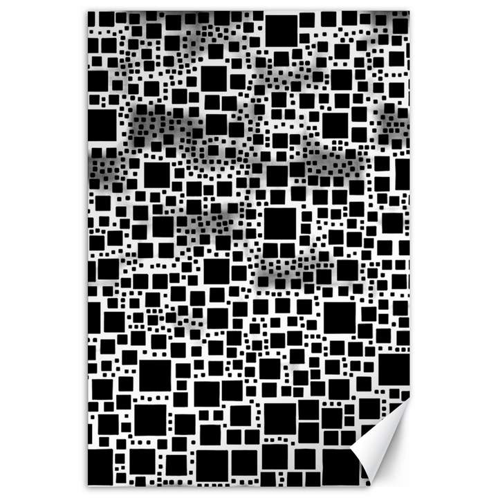 Block On Block, B&w Canvas 20  x 30