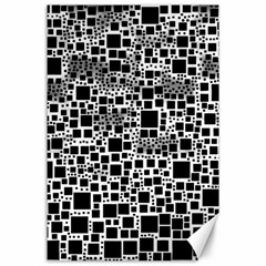 Block On Block, B&w Canvas 24  X 36  by MoreColorsinLife