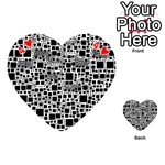 Block On Block, B&w Playing Cards 54 (Heart)  Front - Heart4