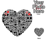 Block On Block, B&w Playing Cards 54 (Heart)  Front - Heart5