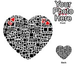 Block On Block, B&w Playing Cards 54 (Heart)  Front - HeartQ