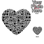 Block On Block, B&w Playing Cards 54 (Heart)  Front - ClubA