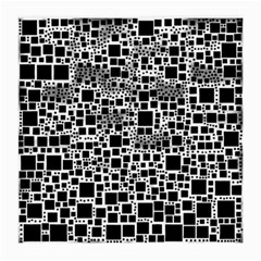 Block On Block, B&w Medium Glasses Cloth