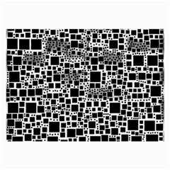 Block On Block, B&w Large Glasses Cloth (2 Side)