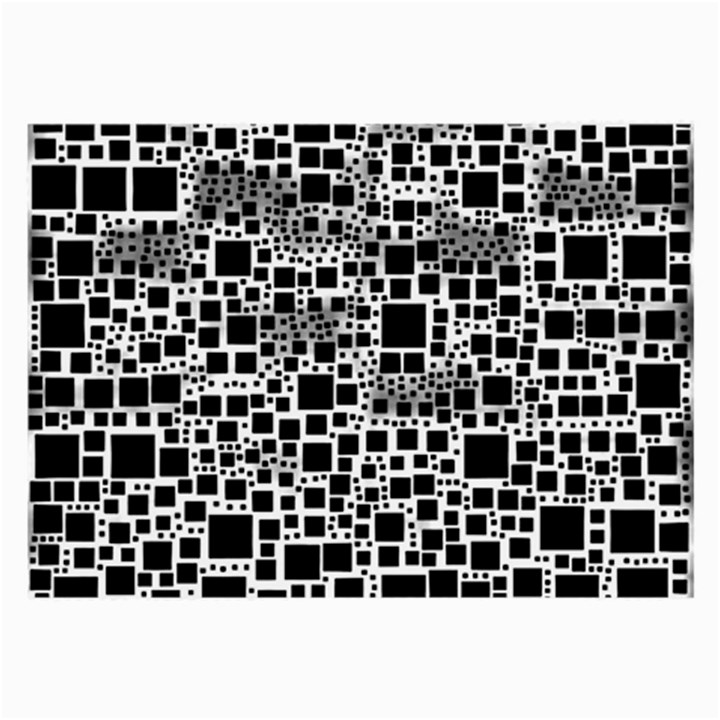 Block On Block, B&w Large Glasses Cloth (2-Side)
