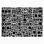 Block On Block, B&w Large Glasses Cloth (2-Side) Back