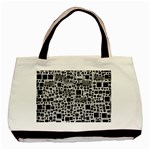 Block On Block, B&w Basic Tote Bag (Two Sides) Front