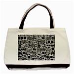 Block On Block, B&w Basic Tote Bag (Two Sides)