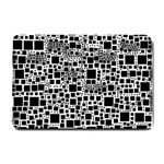 Block On Block, B&w Small Doormat  24 x16 Door Mat - 1