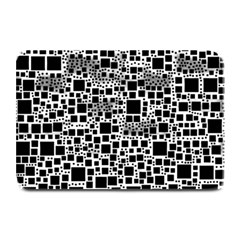 Block On Block, B&w Plate Mats by MoreColorsinLife