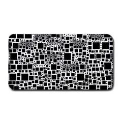 Block On Block, B&w Medium Bar Mats by MoreColorsinLife
