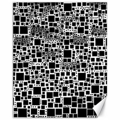 Block On Block, B&w Canvas 11  X 14   by MoreColorsinLife