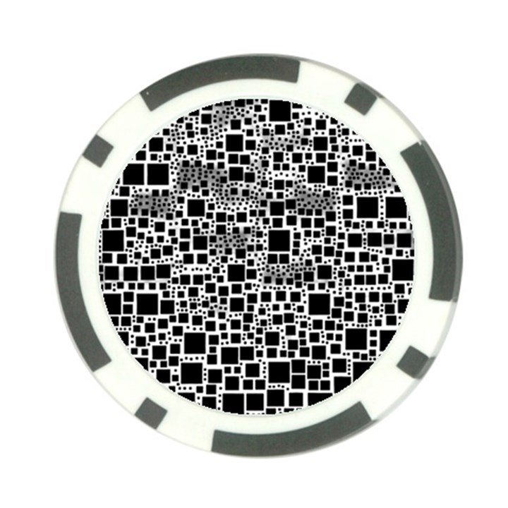Block On Block, B&w Poker Chip Card Guards