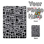 Block On Block, B&w Multi-purpose Cards (Rectangle)  Frontback