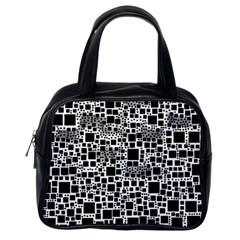 Block On Block, B&w Classic Handbags (one Side) by MoreColorsinLife