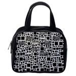 Block On Block, B&w Classic Handbags (2 Sides) Back