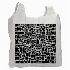 Block On Block, B&w Recycle Bag (one Side) by MoreColorsinLife