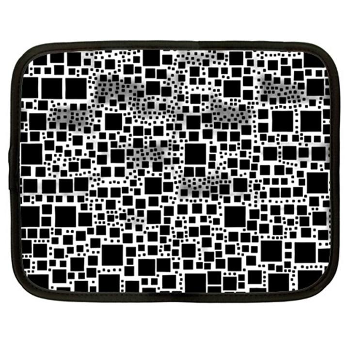 Block On Block, B&w Netbook Case (XL)