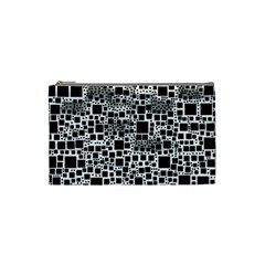 Block On Block, B&w Cosmetic Bag (small)  by MoreColorsinLife
