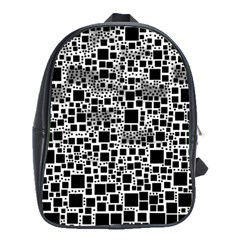Block On Block, B&w School Bags(large)  by MoreColorsinLife