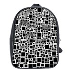 Block On Block, B&w School Bags(Large)  Front