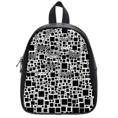Block On Block, B&w School Bags (small)  by MoreColorsinLife