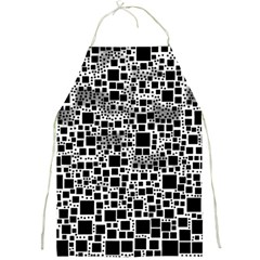 Block On Block, B&w Full Print Aprons by MoreColorsinLife