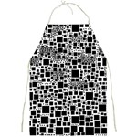 Block On Block, B&w Full Print Aprons Front