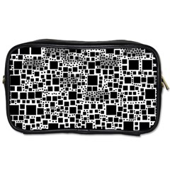 Block On Block, B&w Toiletries Bags 2 Side