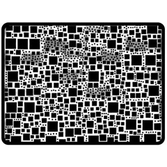 Block On Block, B&w Fleece Blanket (large)  by MoreColorsinLife
