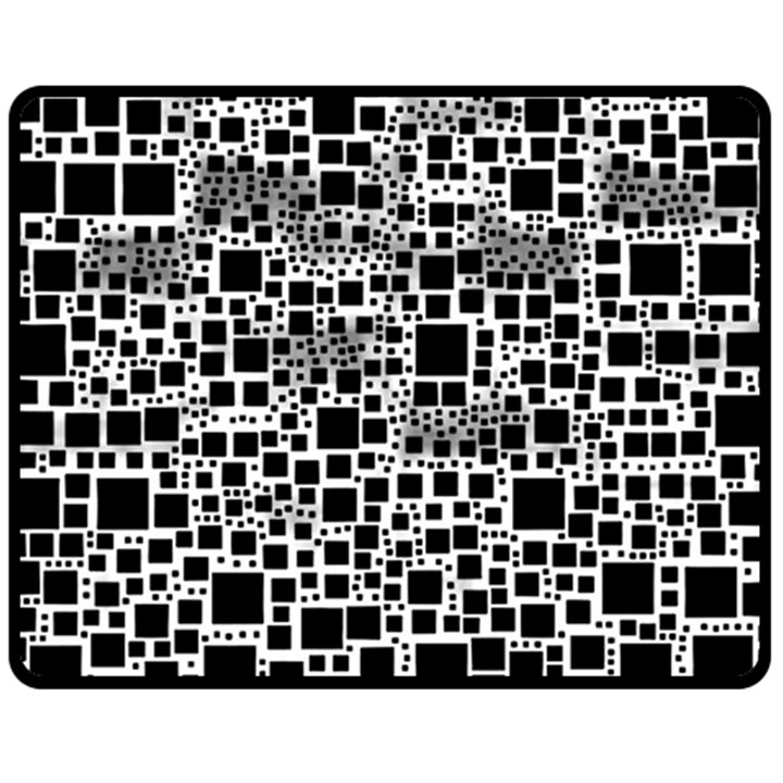 Block On Block, B&w Fleece Blanket (Medium)