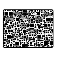Block On Block, B&w Fleece Blanket (small) by MoreColorsinLife