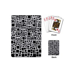 Block On Block, B&w Playing Cards (mini)  by MoreColorsinLife