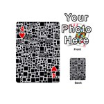 Block On Block, B&w Playing Cards 54 (Mini)  Front - Heart4