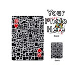 Block On Block, B&w Playing Cards 54 (Mini)  Front - Heart10
