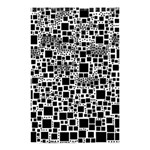 Block On Block, B&w Shower Curtain 48  x 72  (Small)  42.18 x64.8 Curtain
