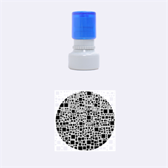 Block On Block, B&w Rubber Round Stamps (Small) by MoreColorsinLife