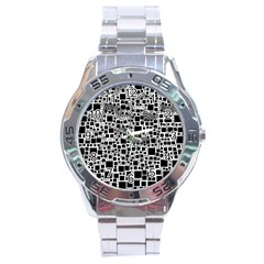 Block On Block, B&w Stainless Steel Analogue Watch by MoreColorsinLife