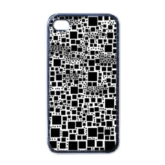 Block On Block, B&w Apple Iphone 4 Case (black) by MoreColorsinLife
