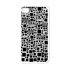 Block On Block, B&w Apple Iphone 4 Case (white) by MoreColorsinLife