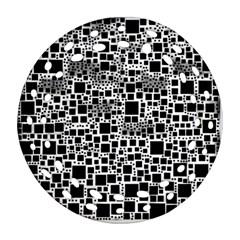 Block On Block, B&w Ornament (round Filigree)