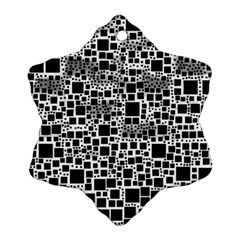 Block On Block, B&w Snowflake Ornament (2 Side)