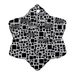 Block On Block, B&w Snowflake Ornament (2-Side) Front