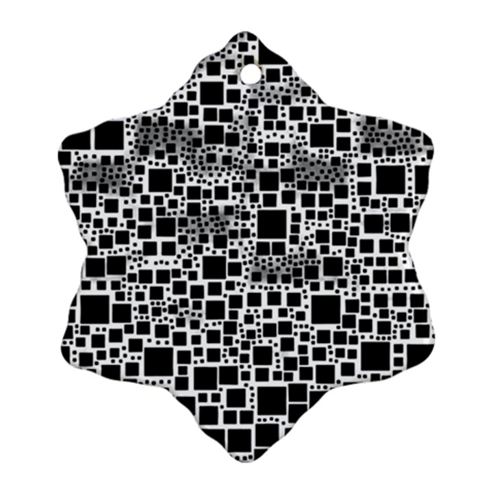 Block On Block, B&w Snowflake Ornament (2-Side)