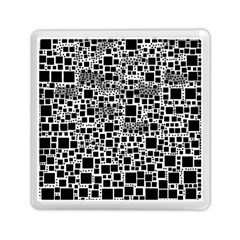 Block On Block, B&w Memory Card Reader (square)  by MoreColorsinLife