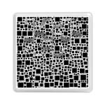 Block On Block, B&w Memory Card Reader (Square)