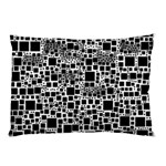 Block On Block, B&w Pillow Case (Two Sides) Back