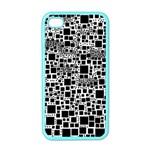Block On Block, B&w Apple iPhone 4 Case (Color)